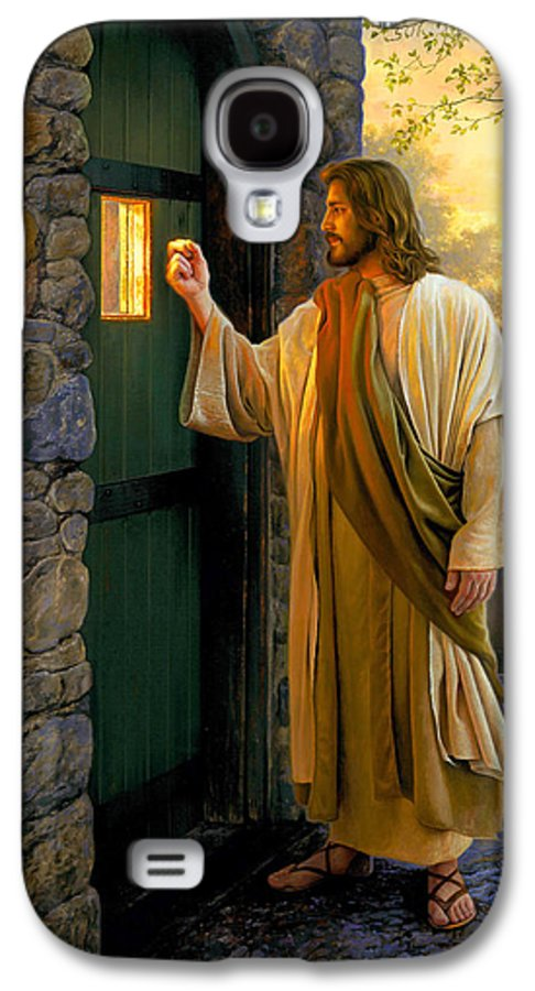 Jesus Galaxy S4 Case featuring the painting Let Him In by Greg Olsen