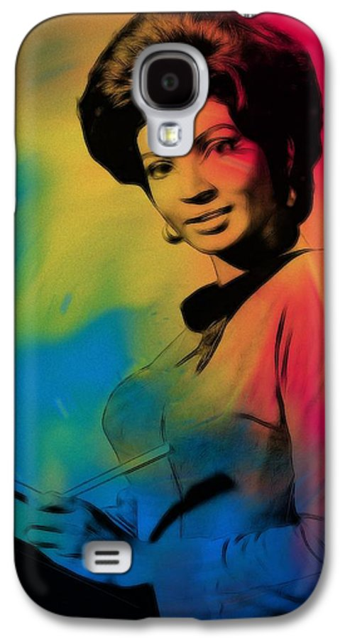 Lieutenant Uhura Star Treck Raumschiff Enterprise Communication Space Universe Galaxy S4 Case featuring the painting Lieutenant Uhura by Steve K