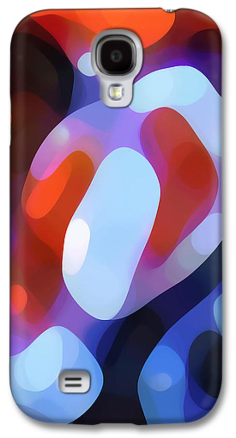 Abstract Galaxy S4 Case featuring the painting Light Through Fall Leaves by Amy Vangsgard
