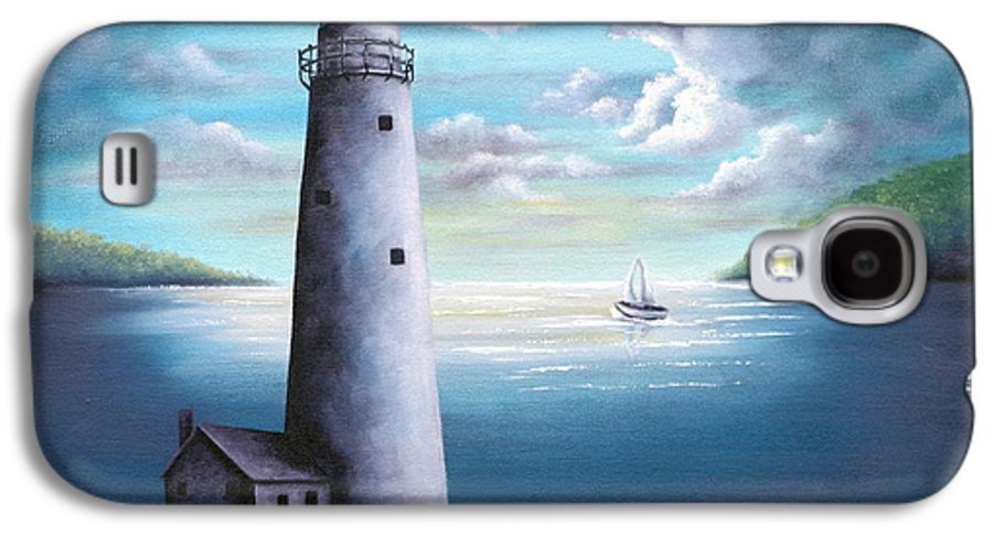 Oil Galaxy S4 Case featuring the painting Lighthouse by Ruth Bares