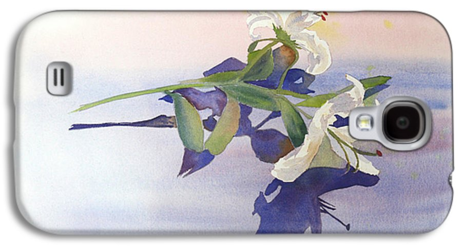 Lily Galaxy S4 Case featuring the painting Lilies At Rest by Patricia Novack