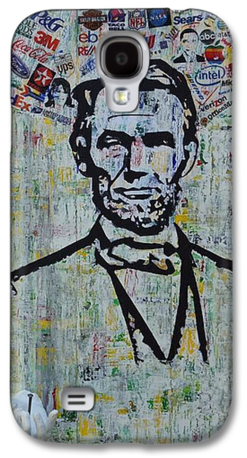 Abraham Lincoln American President Galaxy S4 Case featuring the painting Lincoln- Hawaii by Alireza Vazirabadi