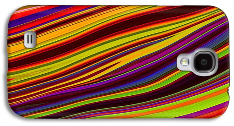 Digital Art Galaxy S4 Case featuring the pastel Linear Abstract by Imani Morales