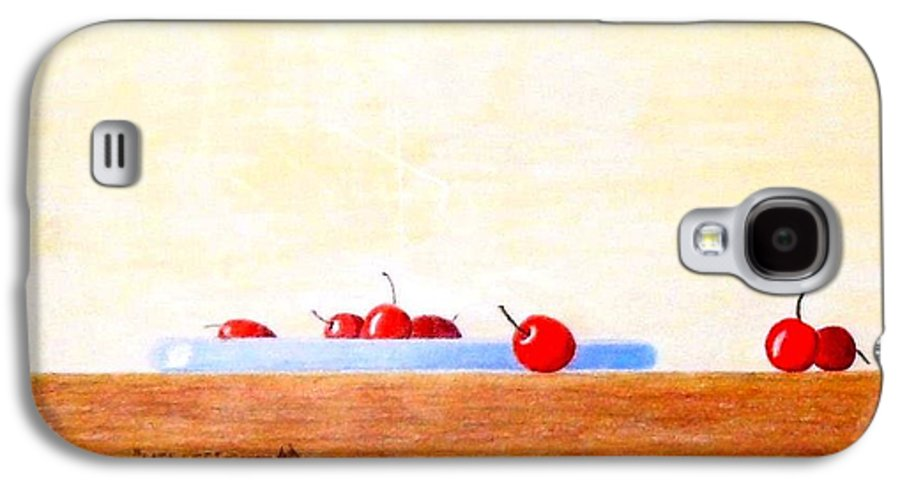 Cherries Galaxy S4 Case featuring the painting Lite Life by A Robert Malcom