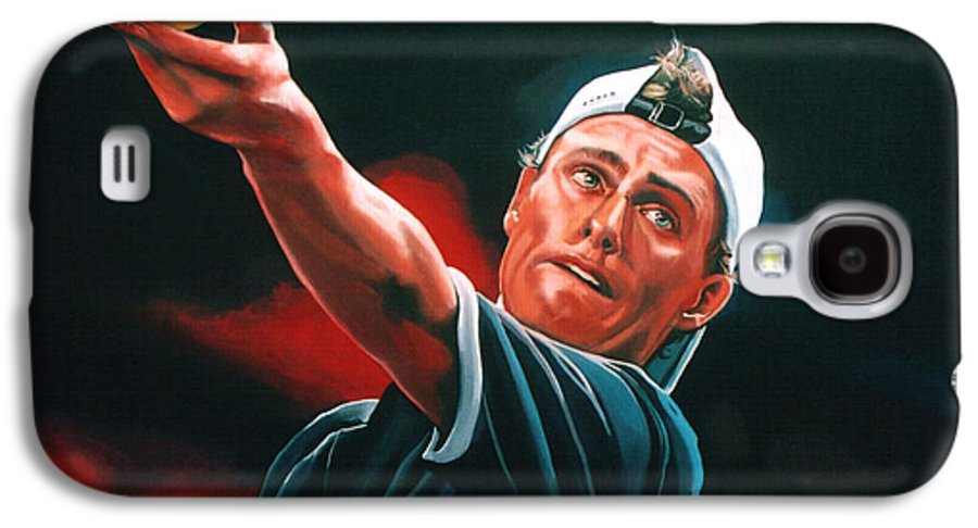 Lleyton Hewitt Galaxy S4 Case featuring the painting Lleyton Hewitt 2 by Paul Meijering