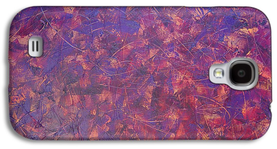 Abstract Galaxy S4 Case featuring the painting Long Beach 5am by Dean Triolo