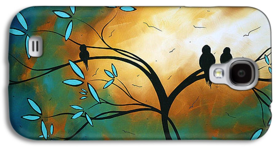 Art Galaxy S4 Case featuring the painting Longing By Madart by Megan Duncanson