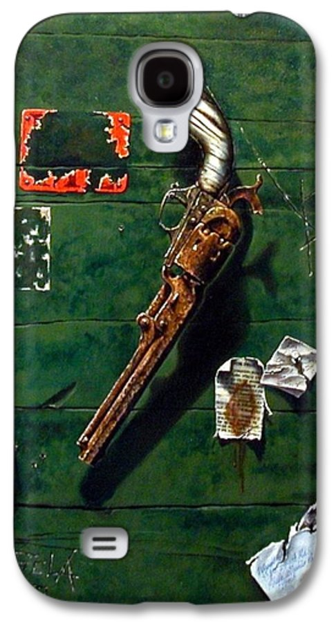 Trompe Le Oil Galaxy S4 Case featuring the painting Lost And Found by Jim Gola