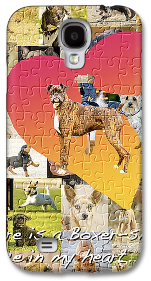 Boxer Dog Galaxy S4 Case featuring the digital art Love Of Boxers by Judy Wood