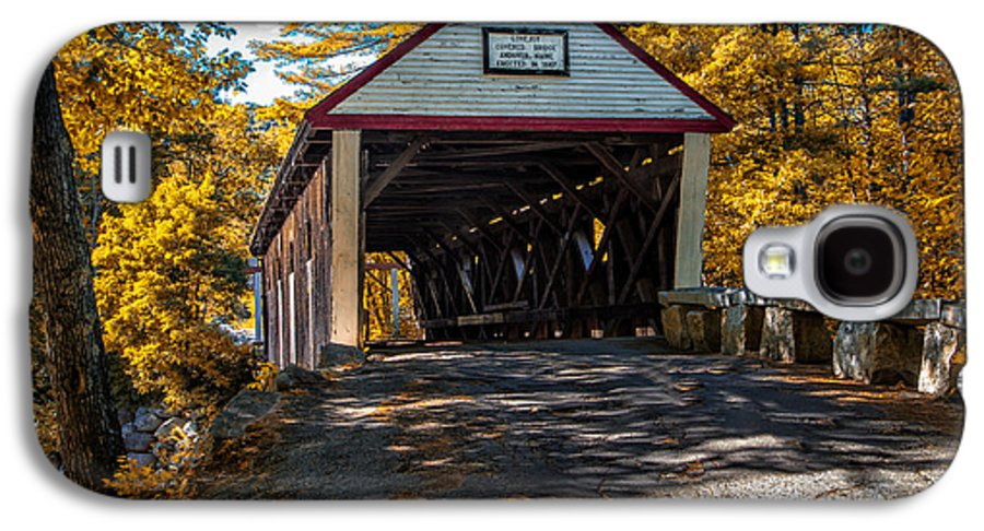 Covered Bridge Galaxy S4 Case featuring the photograph Lovejoy Covered Bridge by Bob Orsillo