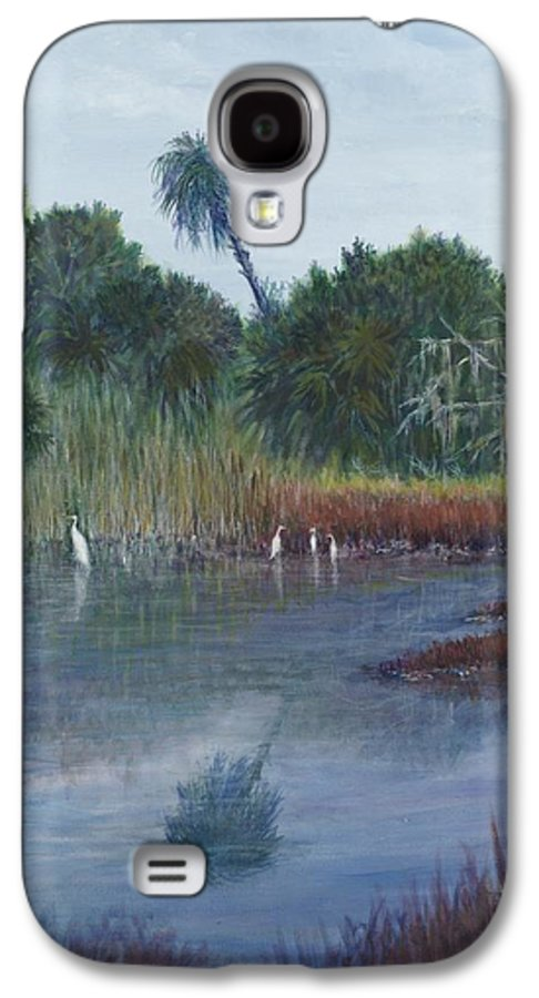 Landscape Galaxy S4 Case featuring the painting Low Country Social by Ben Kiger