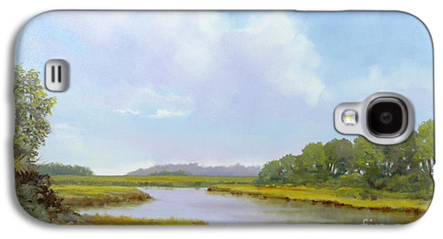 St. Simons Galaxy S4 Case featuring the painting Lowcountry Afternoon by Glenn Secrest