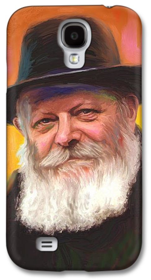 Lubavitcher Rebbe Galaxy S4 Case featuring the painting Lubavitcher Rebbe by Sam Shacked