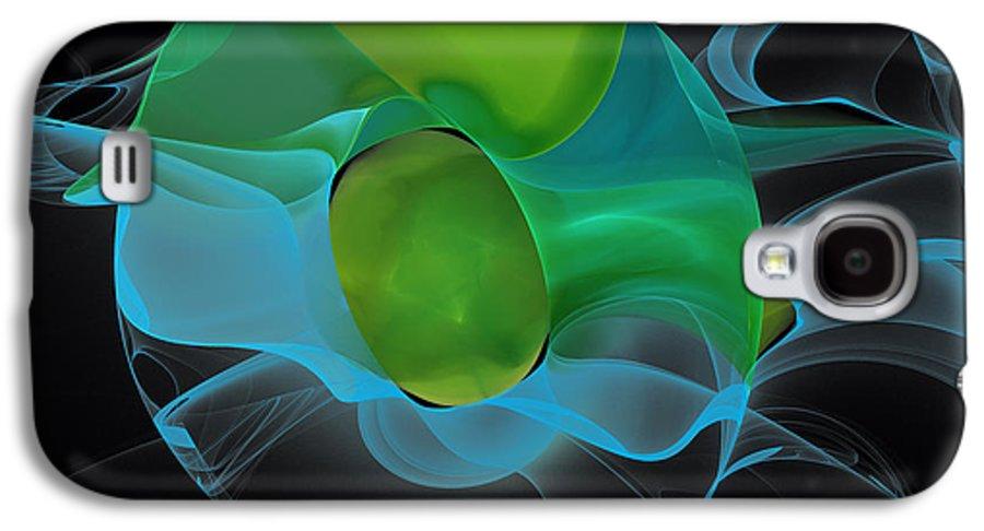 Hanza Turgul Galaxy S4 Case featuring the digital art Lucid Mint by Hanza Turgul