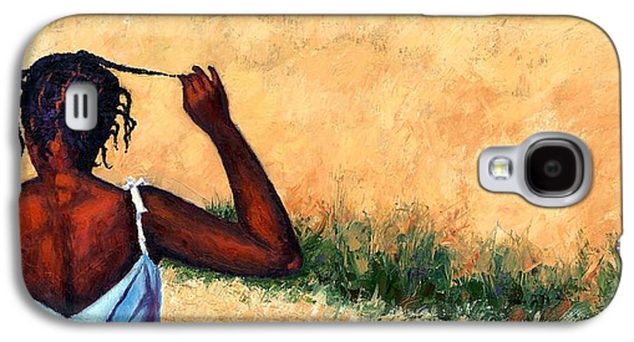 Haiti Painting Galaxy S4 Case featuring the painting Lucie In Haiti by Janet King
