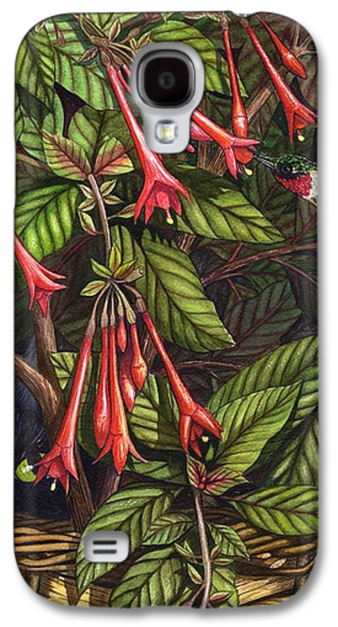 Fuchsia Galaxy S4 Case featuring the painting Lurking by Catherine G McElroy