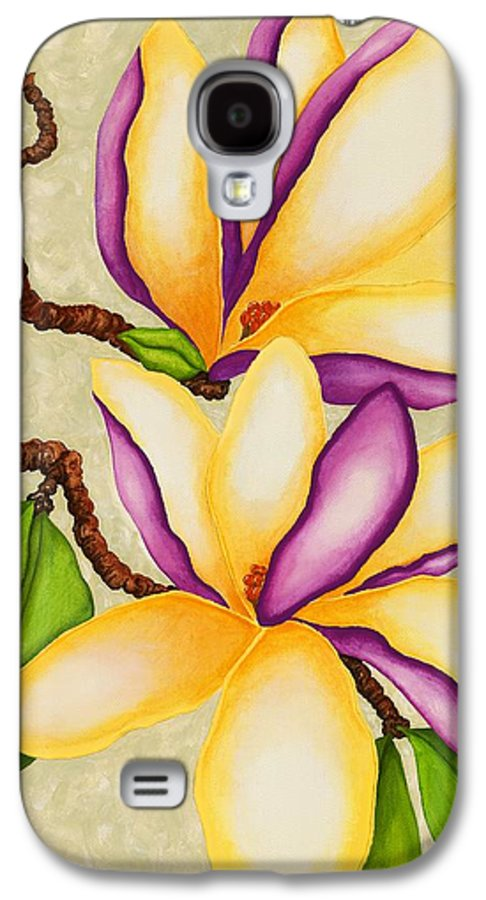 Two Magnolias Galaxy S4 Case featuring the painting Magnolias by Carol Sabo