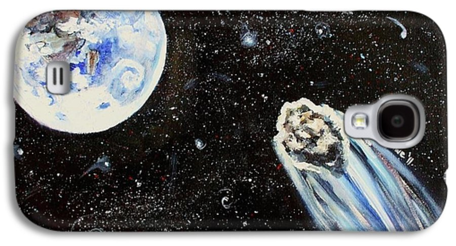 Space Galaxy S4 Case featuring the painting Make A Wish by Shana Rowe Jackson