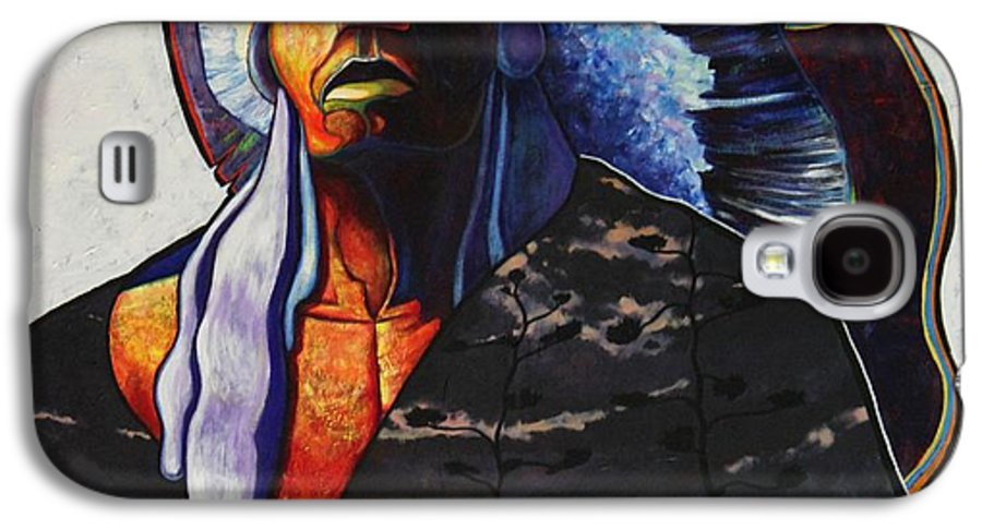 Native American Galaxy S4 Case featuring the painting Make Me Worthy by Joe Triano