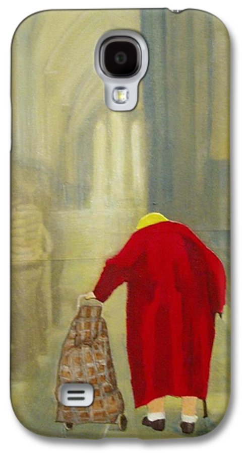Female Galaxy S4 Case featuring the mixed media Daily Rounds by Elizabeth Bogard