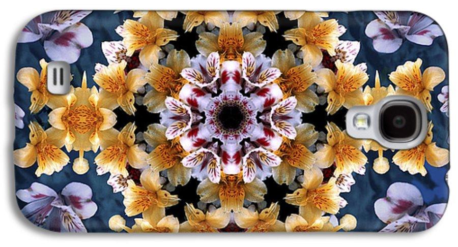 Mandala Galaxy S4 Case featuring the digital art Mandala Alstro by Nancy Griswold