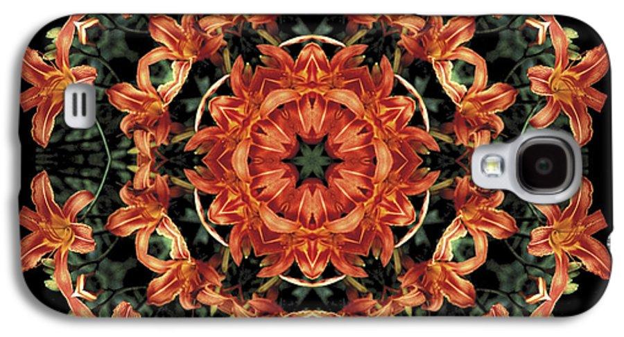 Mandala Galaxy S4 Case featuring the photograph Mandala Daylily by Nancy Griswold