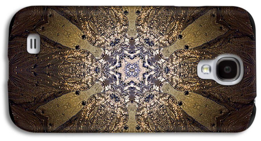 Mandala Galaxy S4 Case featuring the photograph Mandala Sand Dollar At Wells by Nancy Griswold