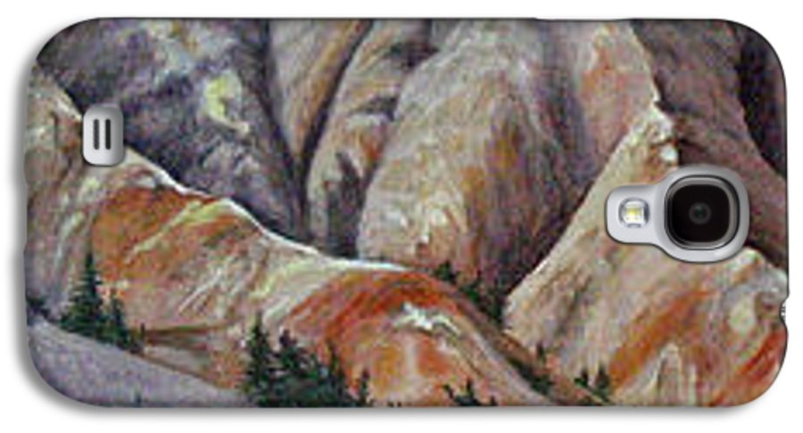 Mountains Galaxy S4 Case featuring the painting Marble Ridge by Elaine Booth-Kallweit
