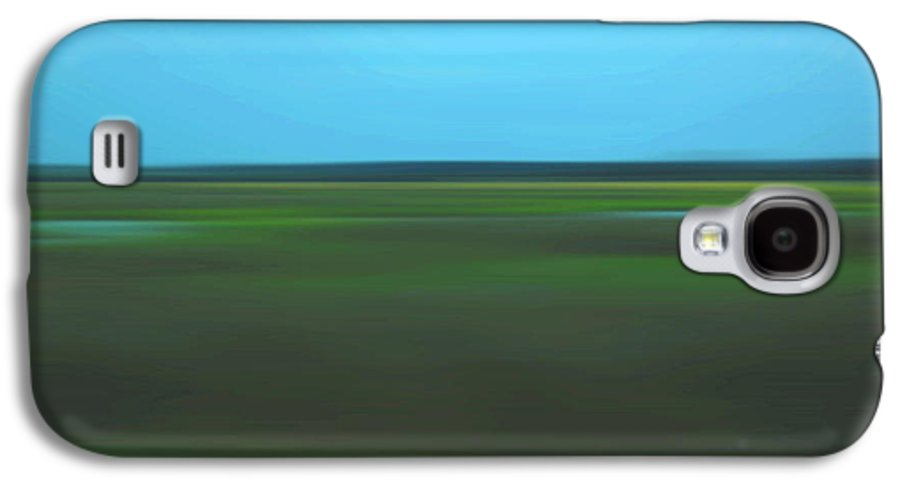 Abstract Galaxy S4 Case featuring the photograph Marsh Blur by Suzanne Gaff