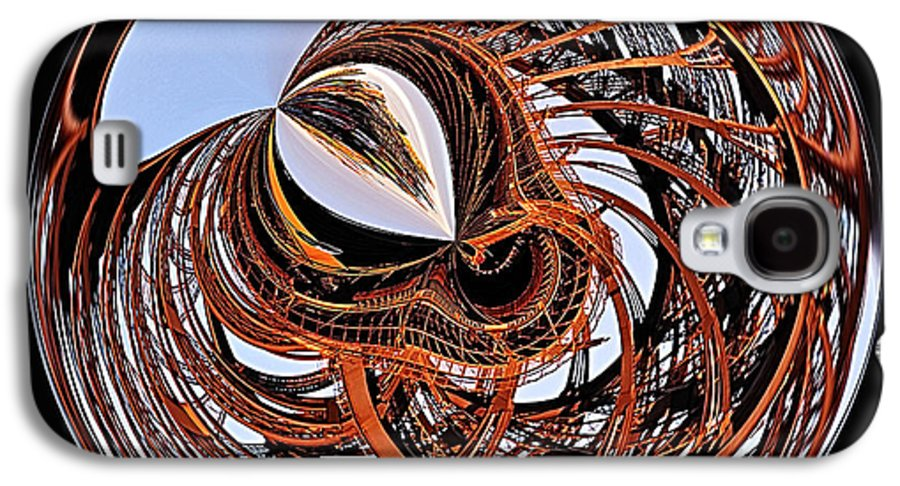 Photography Galaxy S4 Case featuring the photograph Maze Of Steel by Kaye Menner