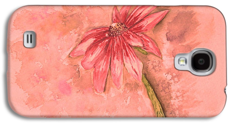 Watercolor Galaxy S4 Case featuring the painting Melancholoy by Crystal Hubbard