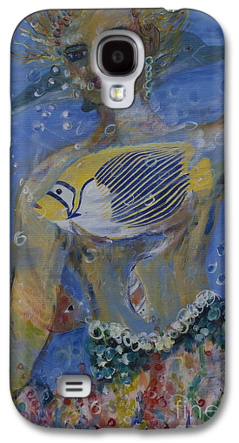 Fantasy Characters Galaxy S4 Case featuring the painting Mermaid by Avonelle Kelsey
