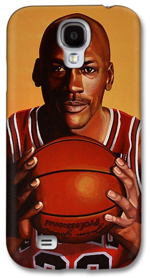 Michael Jordan Galaxy S4 Case featuring the painting Michael Jordan 2 by Paul Meijering