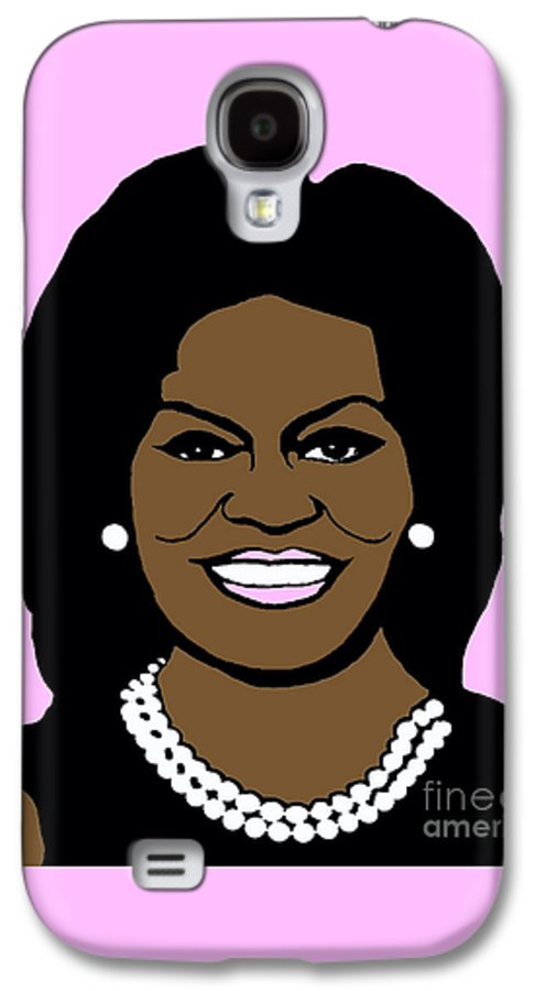 Michelle Galaxy S4 Case featuring the photograph Michelle Obama by Jost Houk