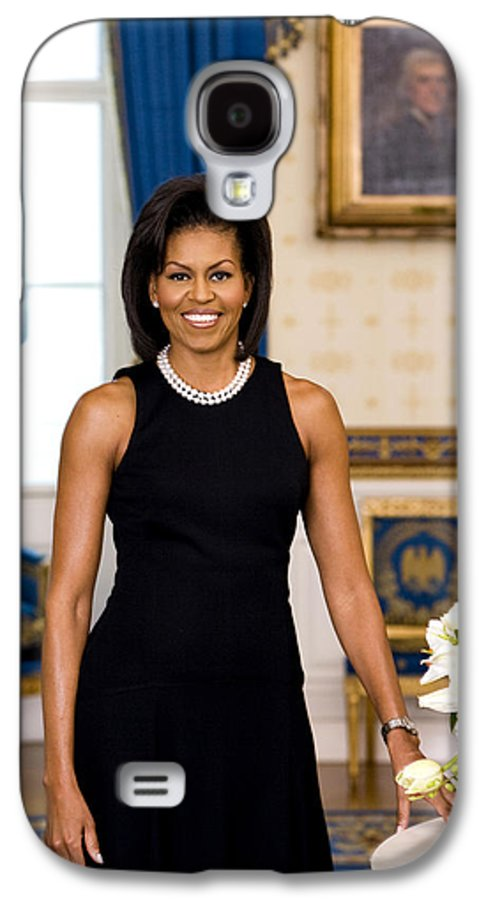 Admiral Galaxy S4 Case featuring the digital art Michelle Obama by Official White House Photo