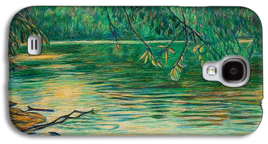 Landscape Galaxy S4 Case featuring the painting Mid-spring On The New River by Kendall Kessler