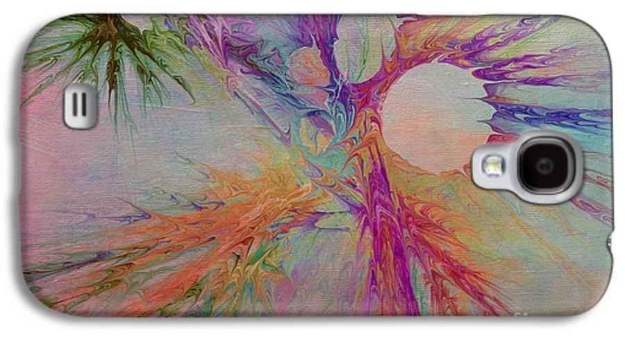 Abstract Galaxy S4 Case featuring the digital art Mind Energy Aura by Deborah Benoit