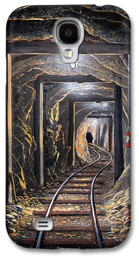 Mural Galaxy S4 Case featuring the painting Mine Shaft Mural by Frank Wilson