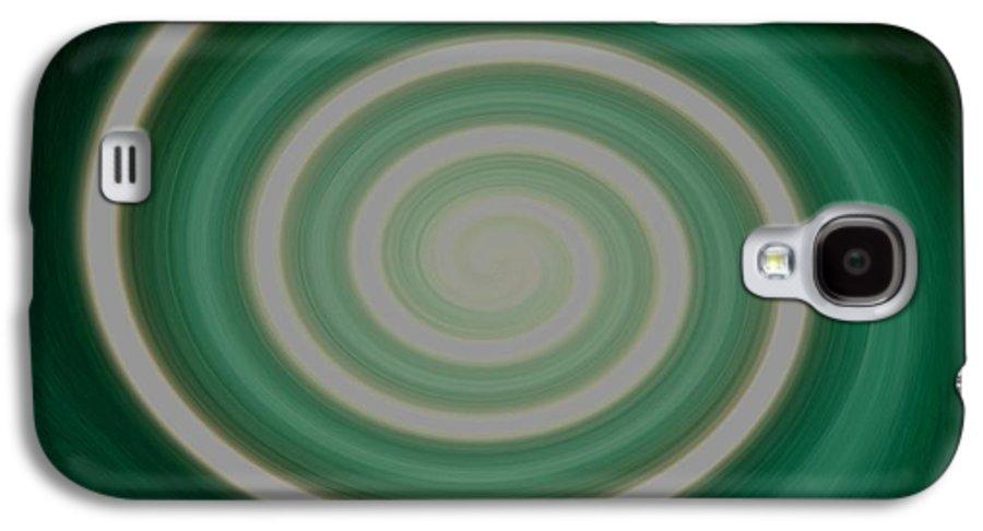 Digital Art Galaxy S4 Case featuring the photograph Mint Green Swirl by Gail Matthews