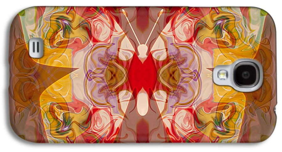 4x3 Galaxy S4 Case featuring the painting Miracles Can Happen Abstract Butterfly Artwork by Omaste Witkowski
