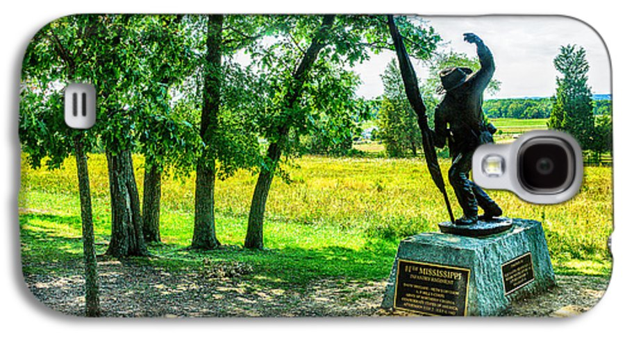 Grand Galaxy S4 Case featuring the digital art Mississippi Memorial Gettysburg Battleground by Bob and Nadine Johnston