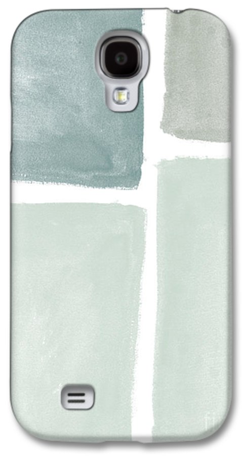 Abstract Landscape Galaxy S4 Case featuring the painting Momentary Crossroads by Linda Woods