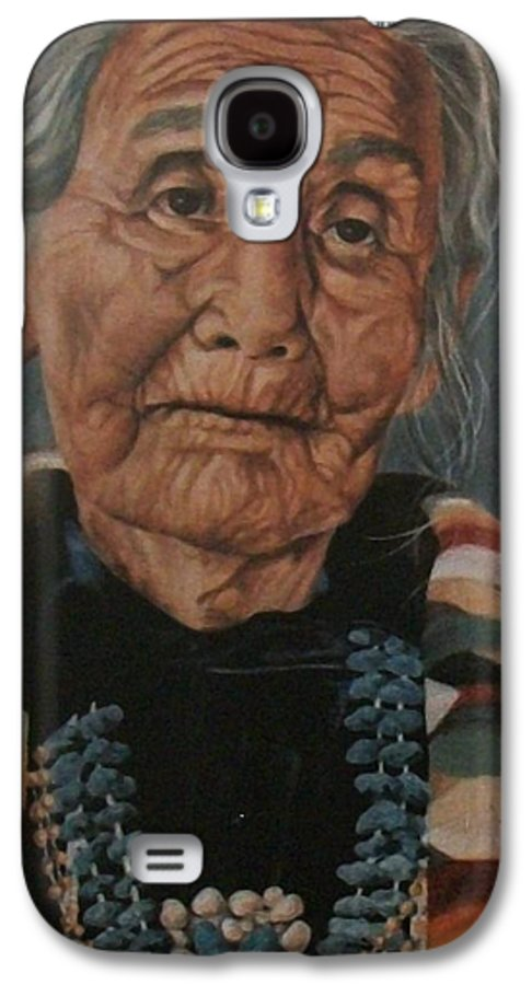 Portrait Galaxy S4 Case featuring the painting Monument Valley Lady by Wanda Dansereau