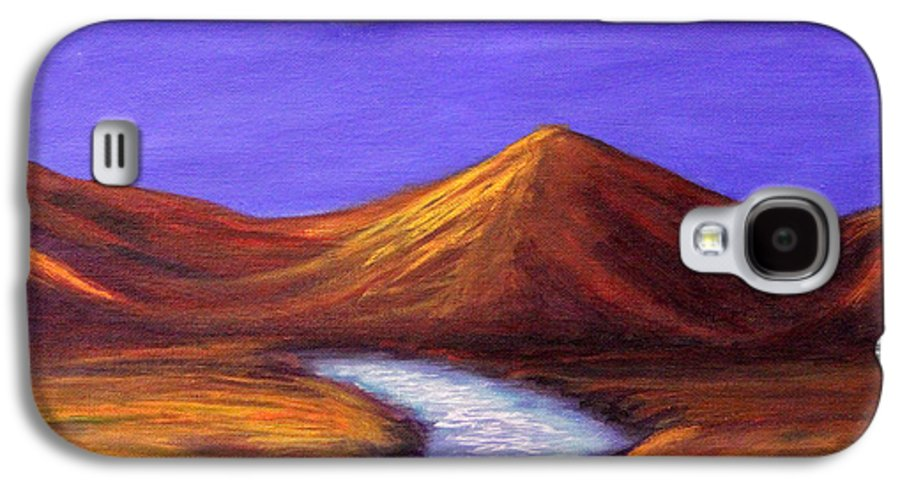 Landscapes Galaxy S4 Case featuring the painting Moon And Cygnus by Janet Greer Sammons