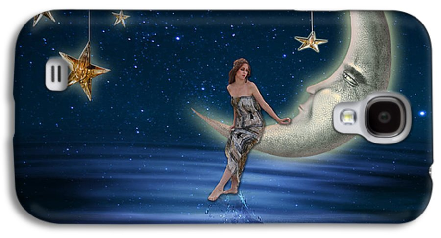 Abstract Galaxy S4 Case featuring the photograph Moon Goddess by Juli Scalzi