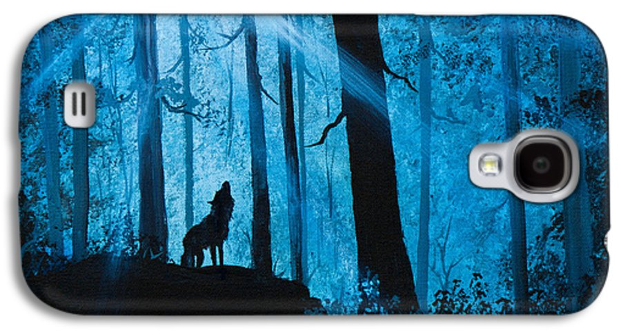 Landscape Galaxy S4 Case featuring the painting Moonlight Serenade by C Steele