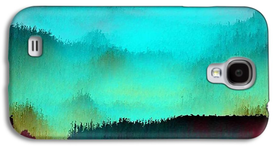 Morning Fog Silhouette The Layers Of The Fog Colors Pale Blue Rose Black Galaxy S4 Case featuring the digital art Morning For You by Dr Loifer Vladimir