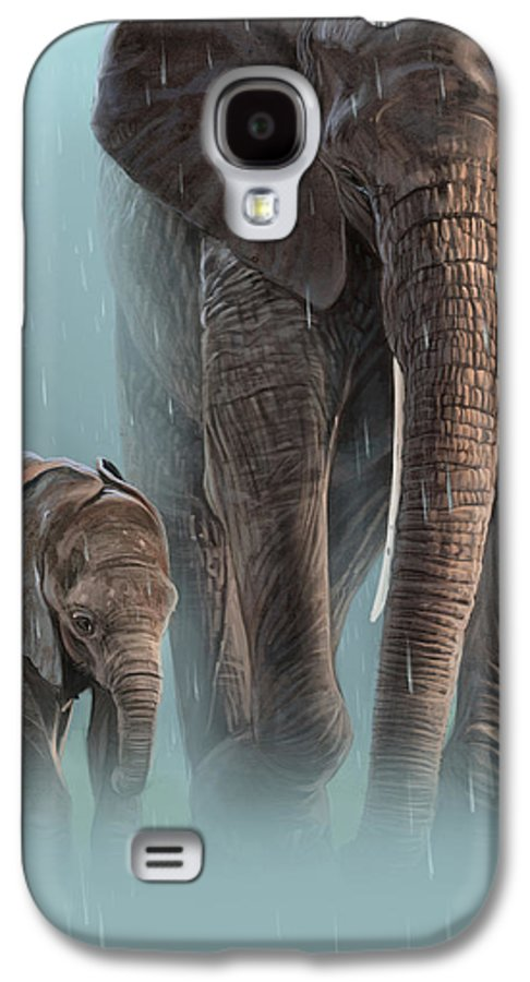Elephant Galaxy S4 Case featuring the digital art Mother And Child by Aaron Blaise