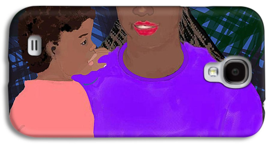 Mother Galaxy S4 Case featuring the painting Mother And Daughter by Pharris Art