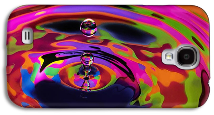 Digital Art Galaxy S4 Case featuring the photograph Multicolor Water Droplets 2 by Imani Morales